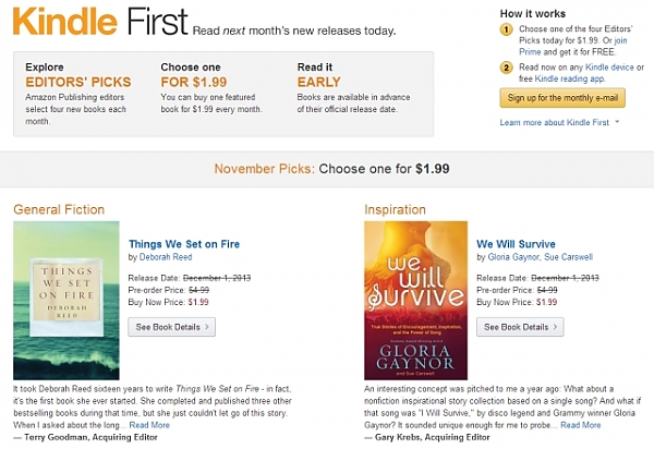 amazon kindle first nivaja usluga